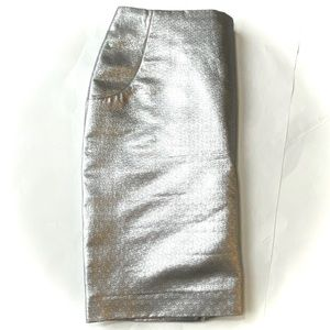 NWOT H&M Mini Metallic Silver Skirt with pockets